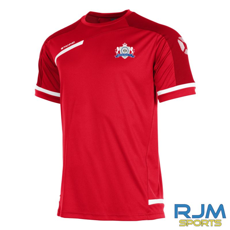 Braehead FC Stanno Prestige Short Sleeve T-Shirt Red/White