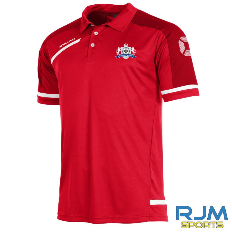 Braehead FC Stanno Prestige Polo Shirt Red/White