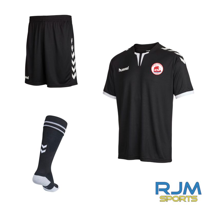 Camelon Juniors FC Adults Academy Match Kit Black White