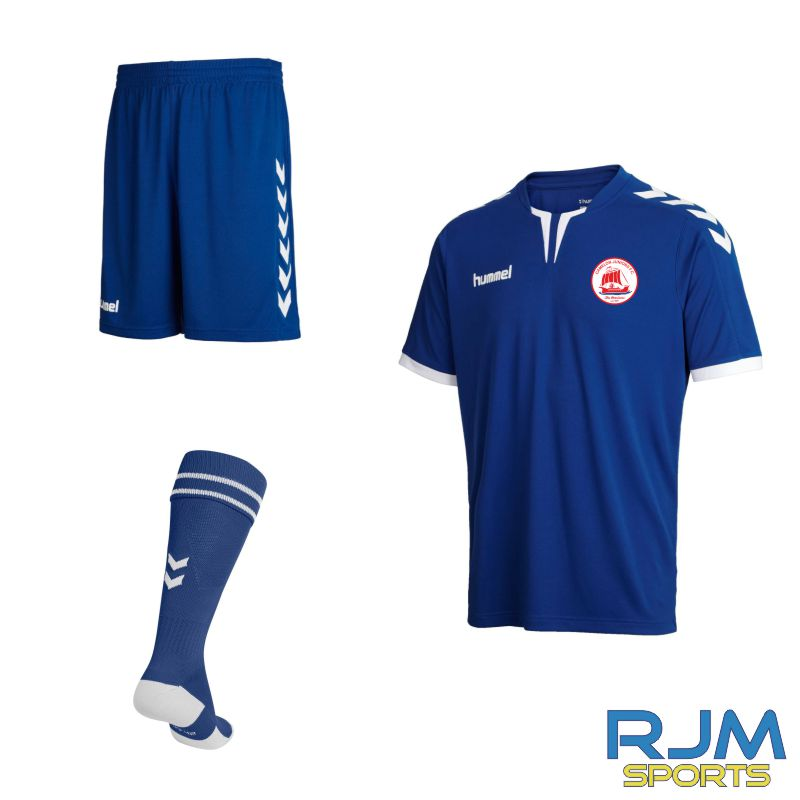 Camelon Juniors FC Kids Academy Match Kit True Blue White