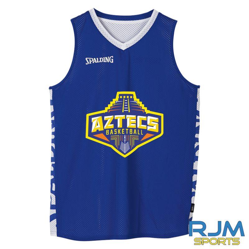 Aztecs Basketball Spalding Essential Reversible Vest Royal White