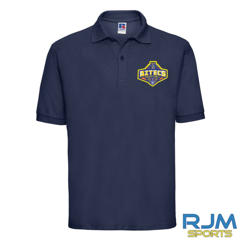 Aztecs Basketball Kids Russell Polo Shirt French Navy
