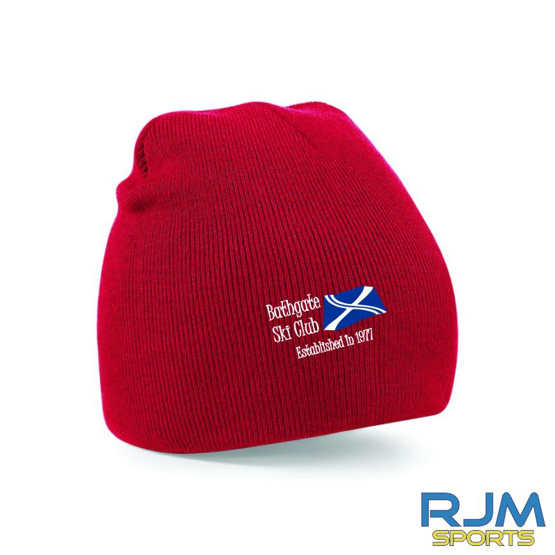 Bathgate Ski Club Beechfield Beanie Hat Red