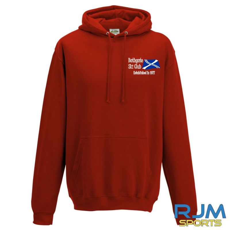 Bathgate Ski Club AWDis College Hoodie Fire Red