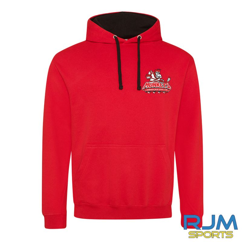 Edinburgh Monkeys Kids AWDis Varsity Hoodie Red/Black