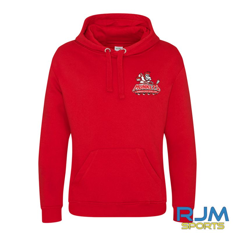 Edinburgh Monkeys Adult AWDis Graduate Heavyweight Hoodie Fire Red