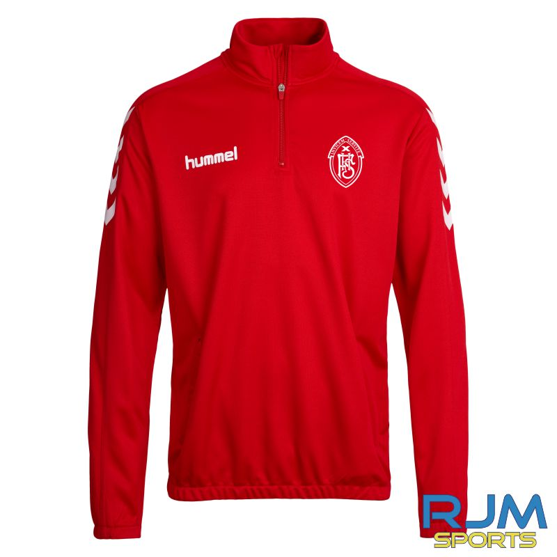 FHS Football Hummel Core Half Zip True Red