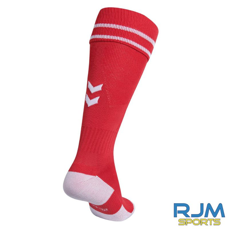 FHS Football Hummel Element Football Sock True Red White