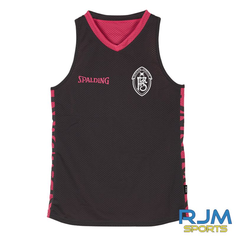 FHS Girls Additional Spalding 4Her Reversible Vest Anthra Pink