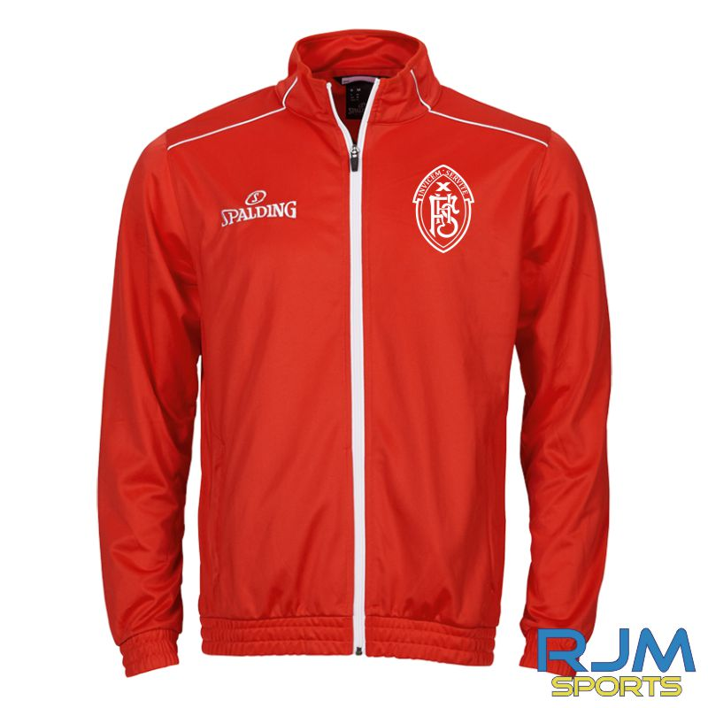 FHS Spalding Team Warm Up Jacket Red White