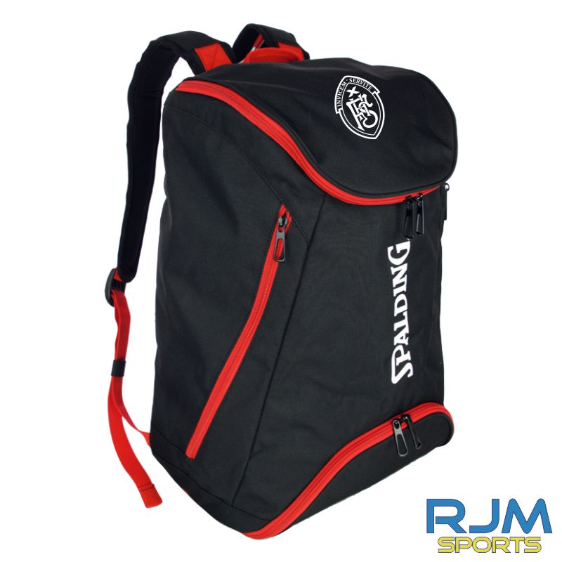 FHS Spalding Backpack Black Red