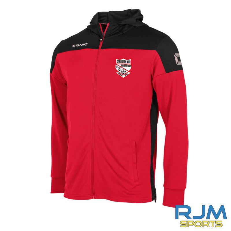 Garnkirk Community FC Stanno Pride Players Hooded Sweat Jacket Red Black