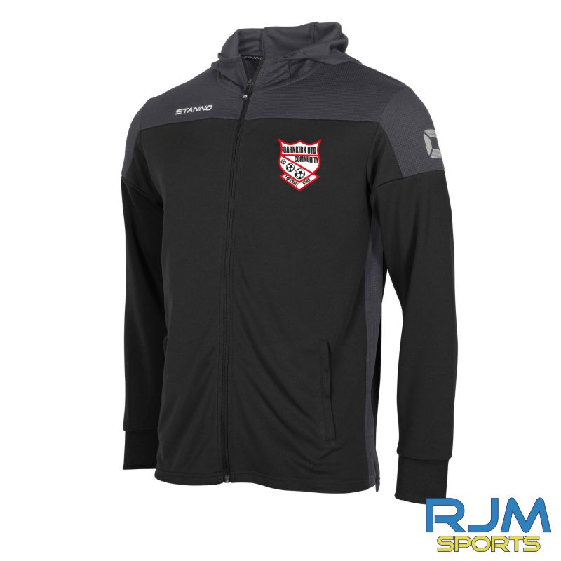 Garnkirk Community FC Stanno Pride Coaches Hooded Sweat Jacket Black Anthracite