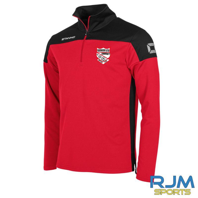Garnkirk Community FC Stanno Pride Players 1/4 Zip Top Red Black
