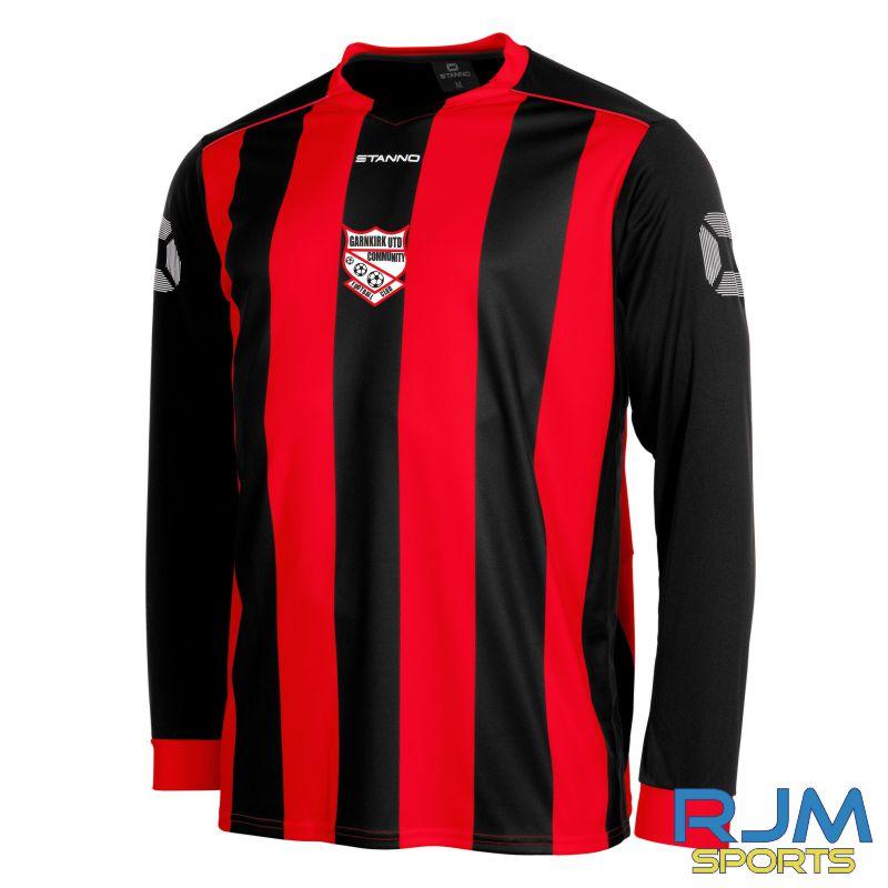 Garnkirk Community FC Stanno Home Brighton Long Sleeve Shirt Red Black