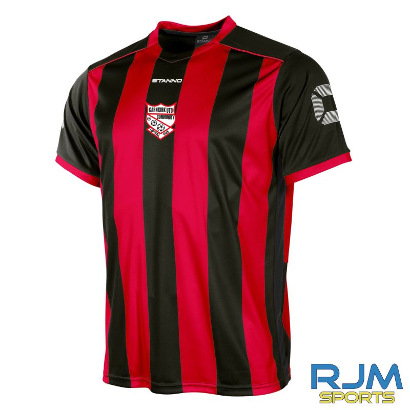 Garnkirk Community FC Stanno Home Brighton Short Sleeve Shirt Red Black