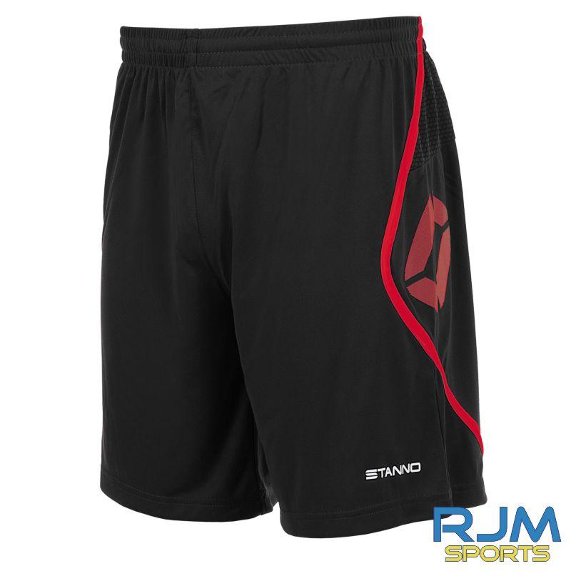 Garnkirk Community FC Stanno Home Pisa Shorts Black Red