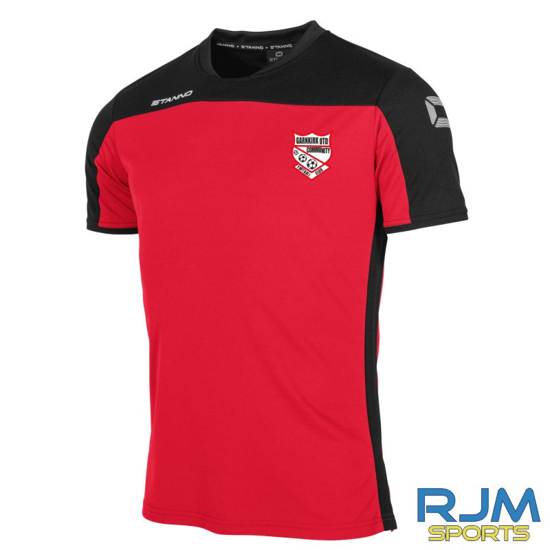 Garnkirk Community FC Stanno Pride Players T-Shirt Red Black