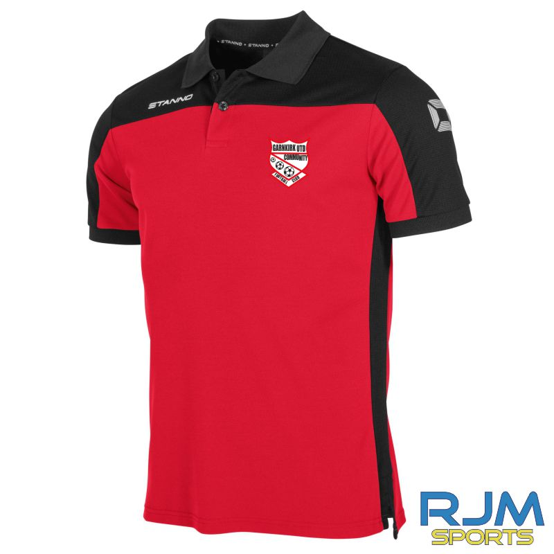 Garnkirk Community FC Stanno Pride Players Polo Red Black