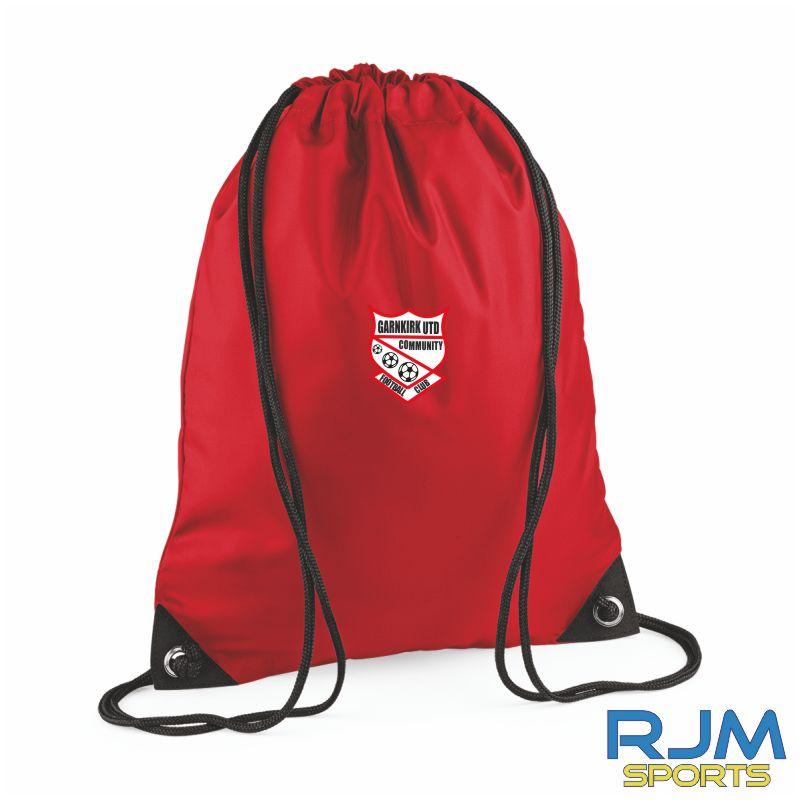 Garnkirk Community FC Drawstring Bag Red