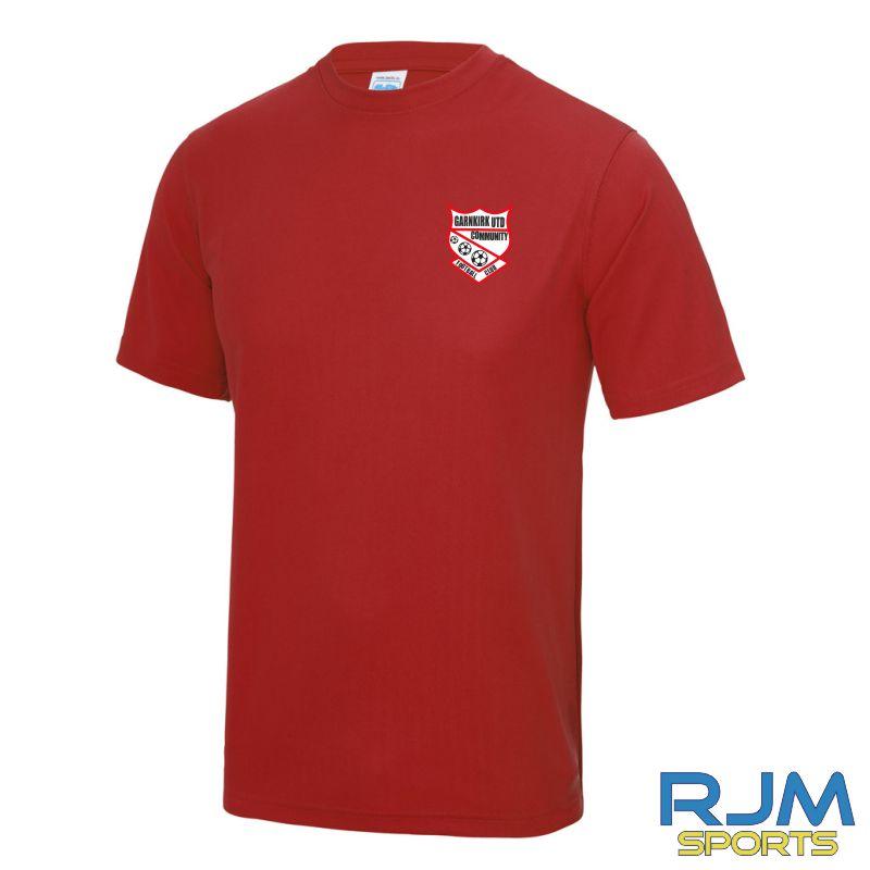 Garnkirk Community FC Mini Kickers AWDis T-shirt Red