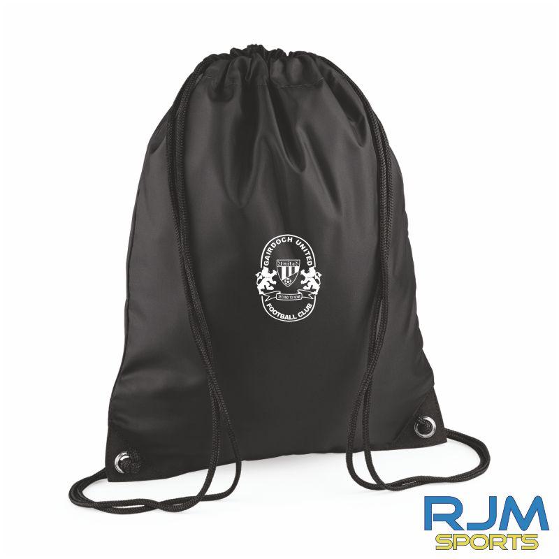 Gairdoch United Drawstring Bag Black