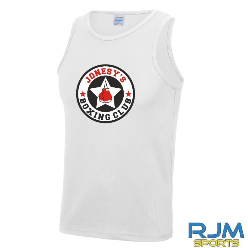 Jonesy's Boxing Club AWDis Cool Wicking Vest White