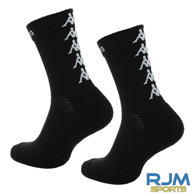 Edinburgh Lions Kappa Eleno Pack of 3 Socks Black/White