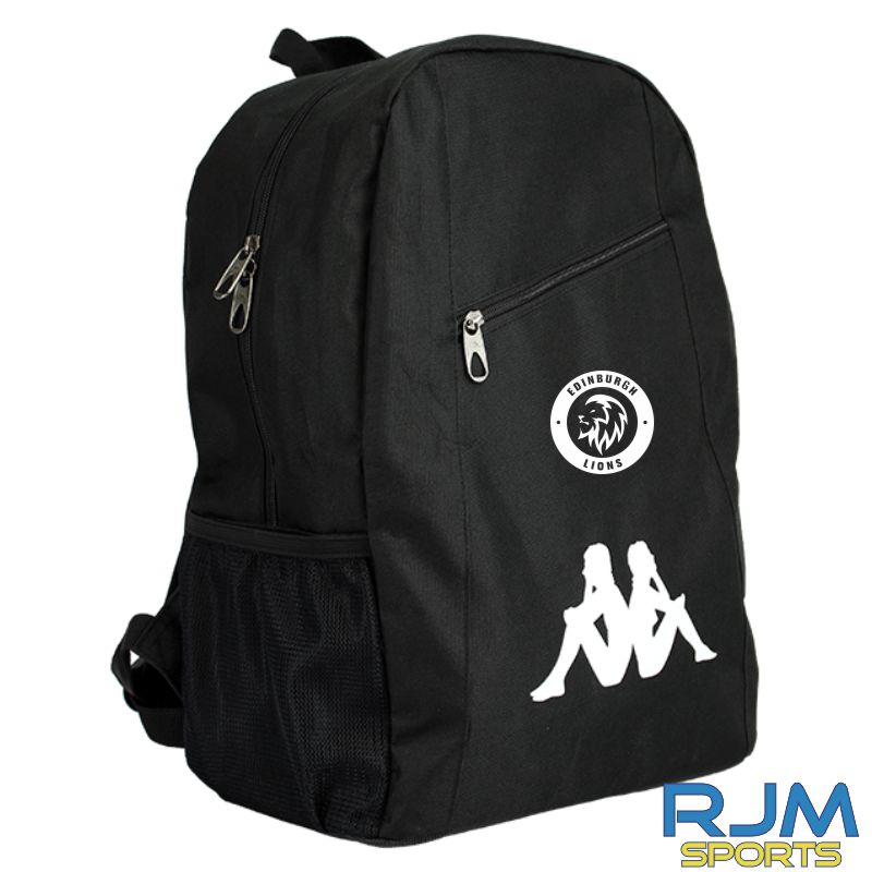 Edinburgh Lions Kappa Velia Backpack Black