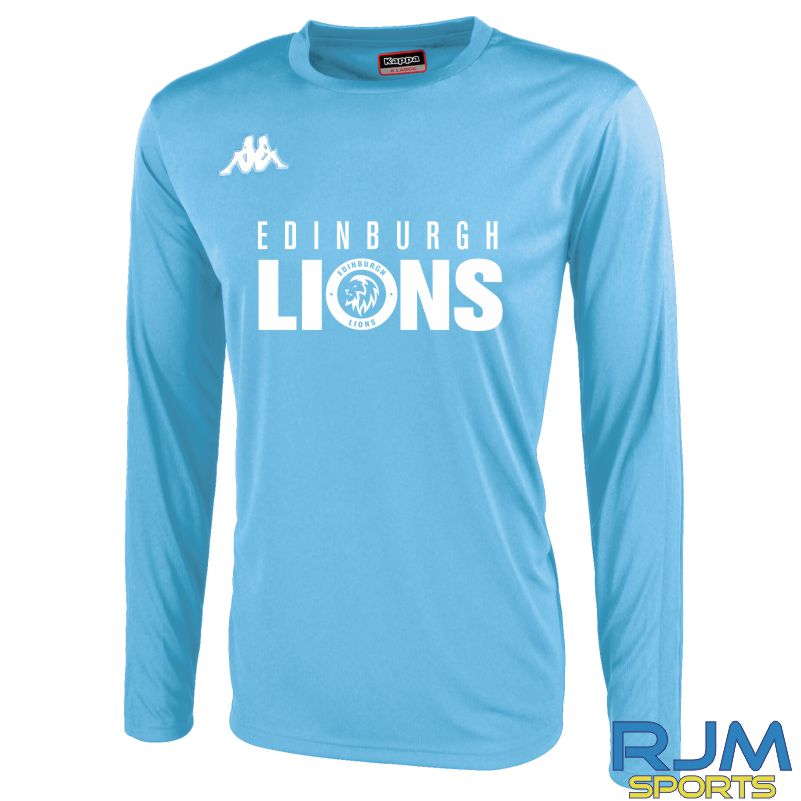 Edinburgh Lions Kappa Rovigo Long Sleeve T-Shirt Light Blue/White