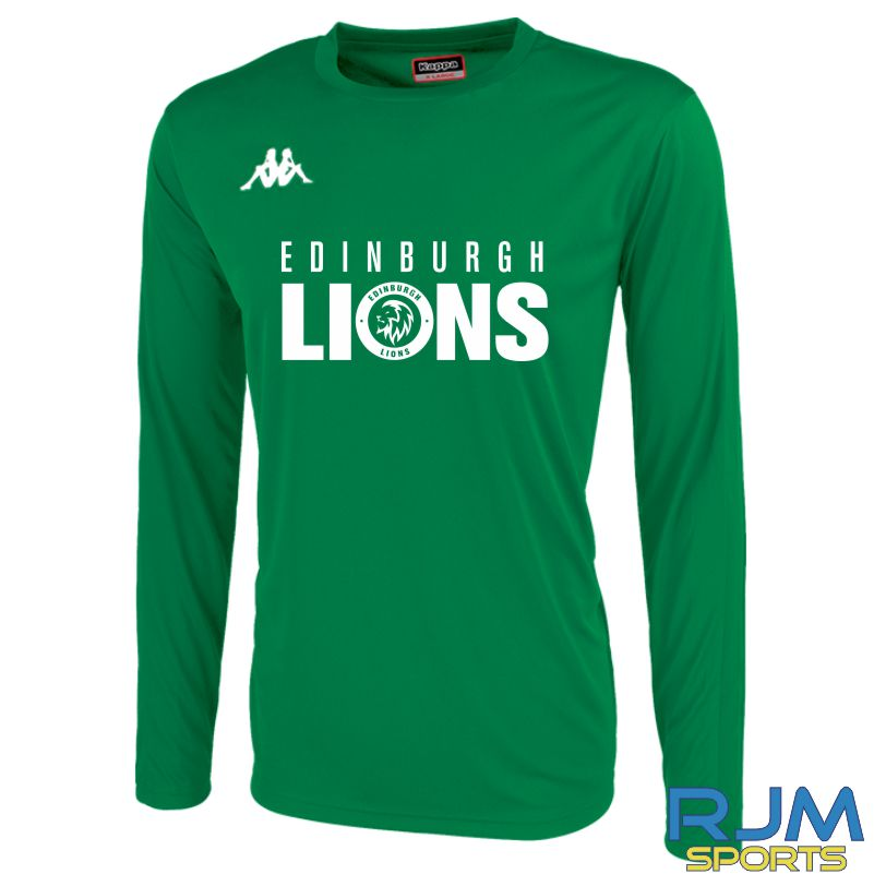 Edinburgh Lions Kappa Rovigo Long Sleeve T-Shirt Light Green/White