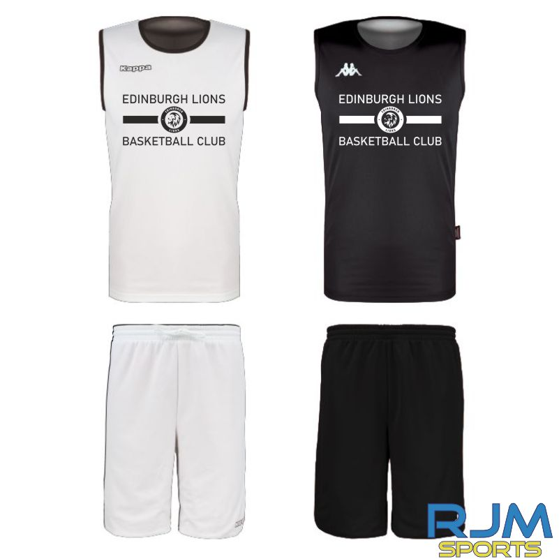 Edinburgh Lions Kappa Cairosi Reversible Set Black/White