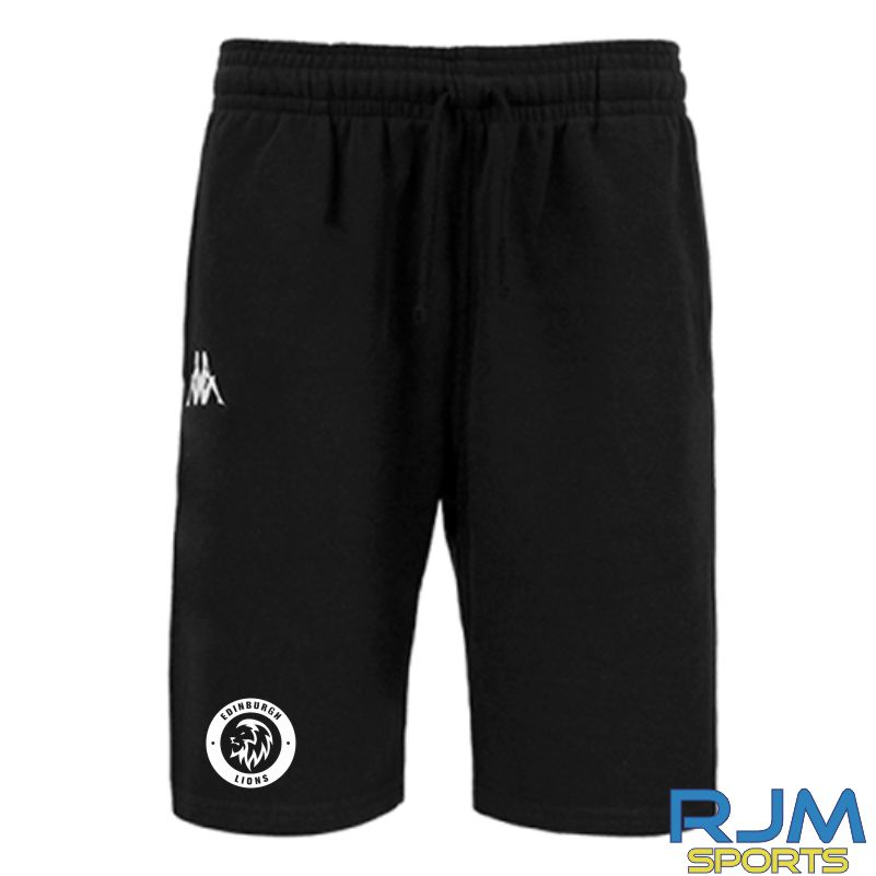 Edinburgh Lions Kappa Peci Shorts Black