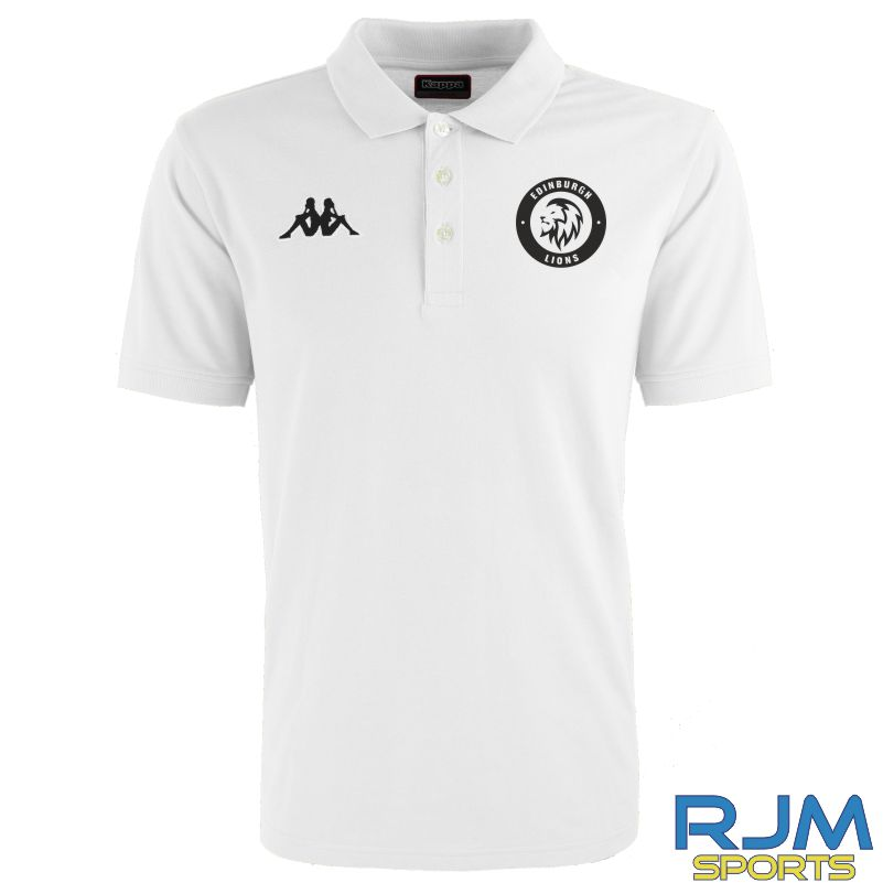 Edinburgh Lions Kappa Peglio Polo Shirt White