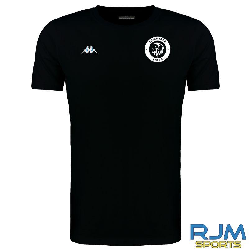 Edinburgh Lions Kappa Meleto T-Shirt Black