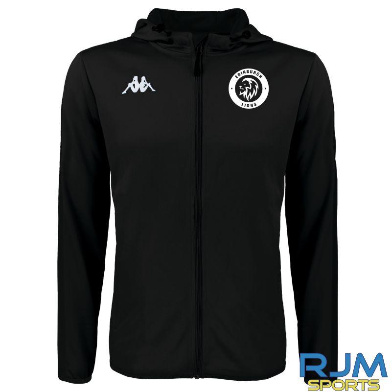 Edinburgh Lions Kappa Telve Hooded Jacket Black