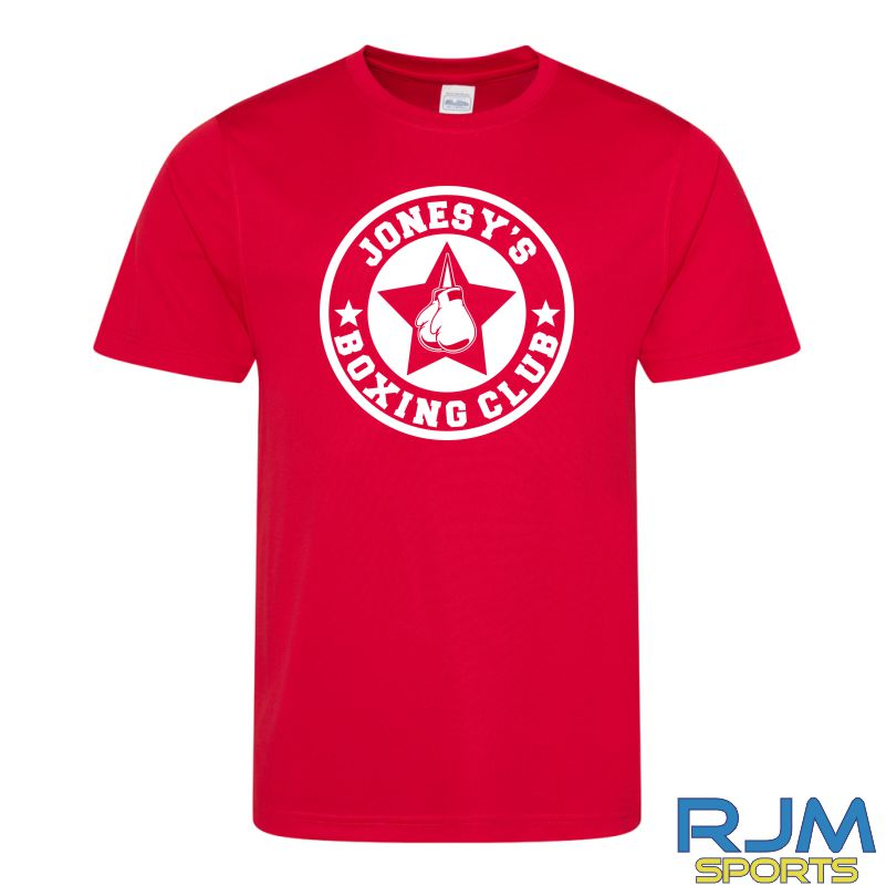 Jonesy's Boxing Club AWDis Cool Wicking T-Shirt Fire Red