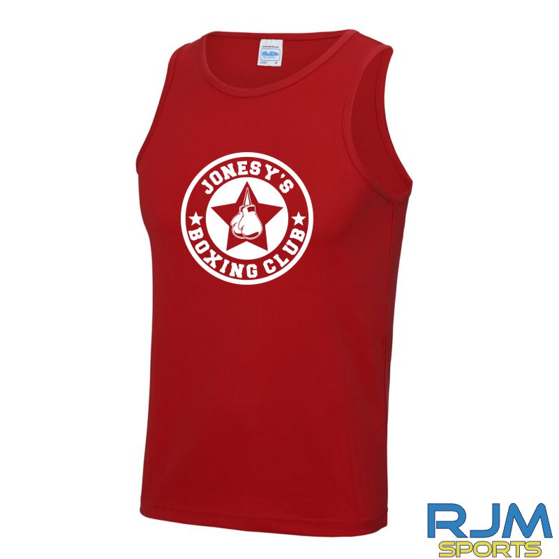Jonesy's Boxing Club AWDis Cool Wicking Vest Fire Red
