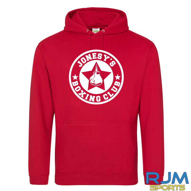 Jonesy's Boxing Club AWDis College Hoodie Fire Red