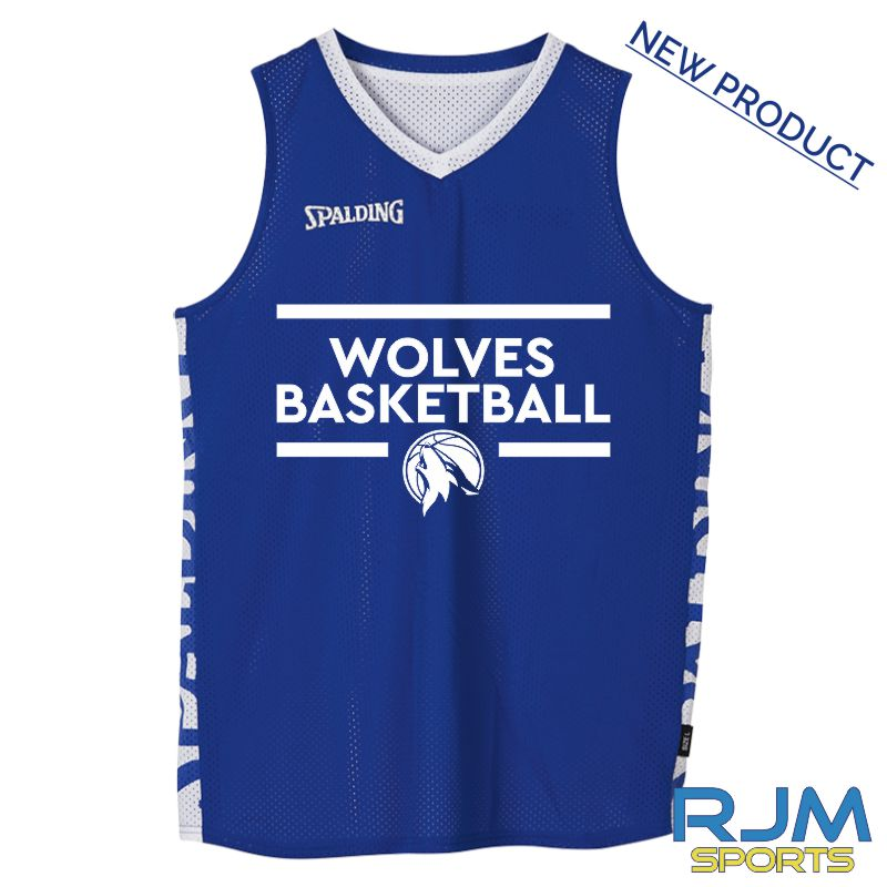 West Lothian Wolves Spalding Essential Reversible Vest Royal/White