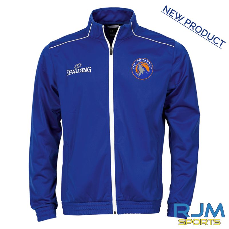 West Lothian Wolves Spalding Team Warm Up Jacket Royal/White