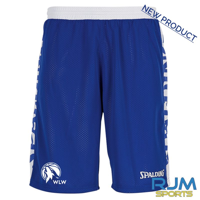 West Lothian Wolves Spalding Essential Reversible Shorts Royal/White