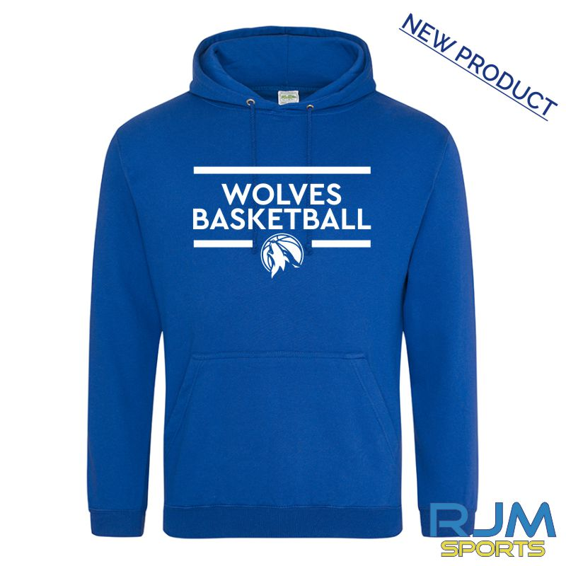 West Lothian Wolves AWDis College Hoodie Royal Blue