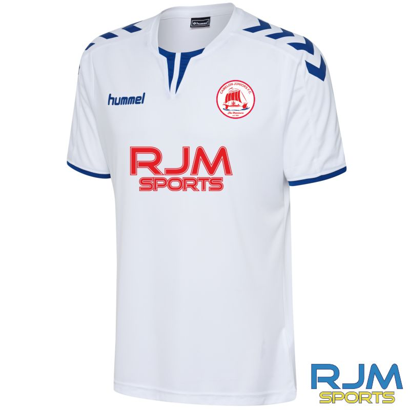 Camelon Juniors FC Hummel Core Poly Short Sleeve Limited Edition Shirt White True Blue