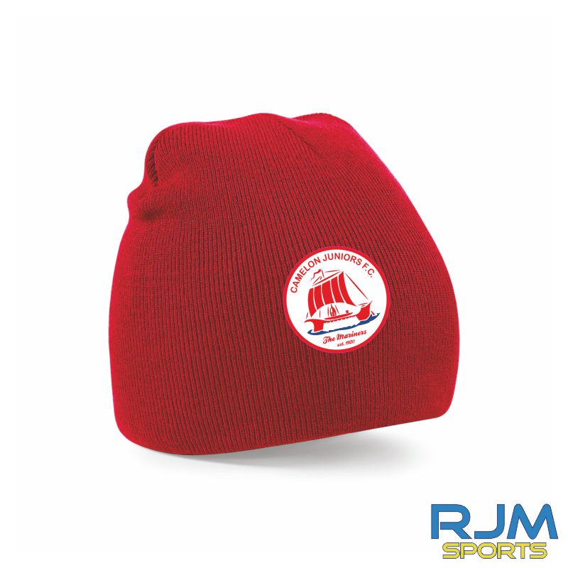 Camelon Juniors FC Beanie Hat Classic Red