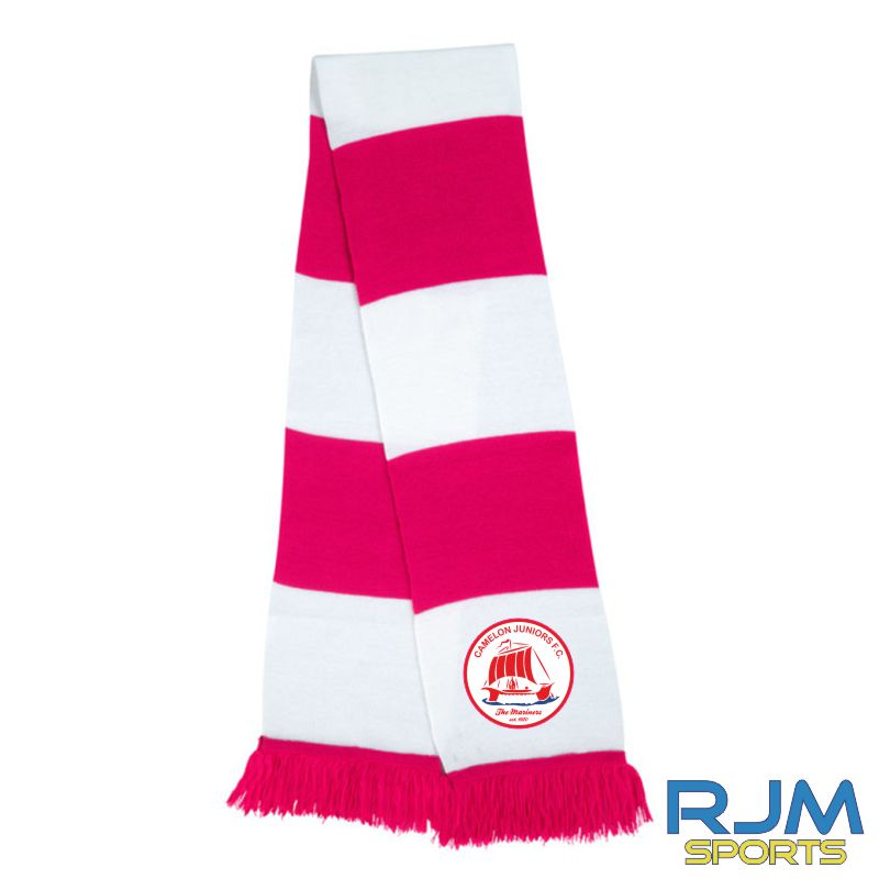 Camelon Juniors FC Team Scarf Red White