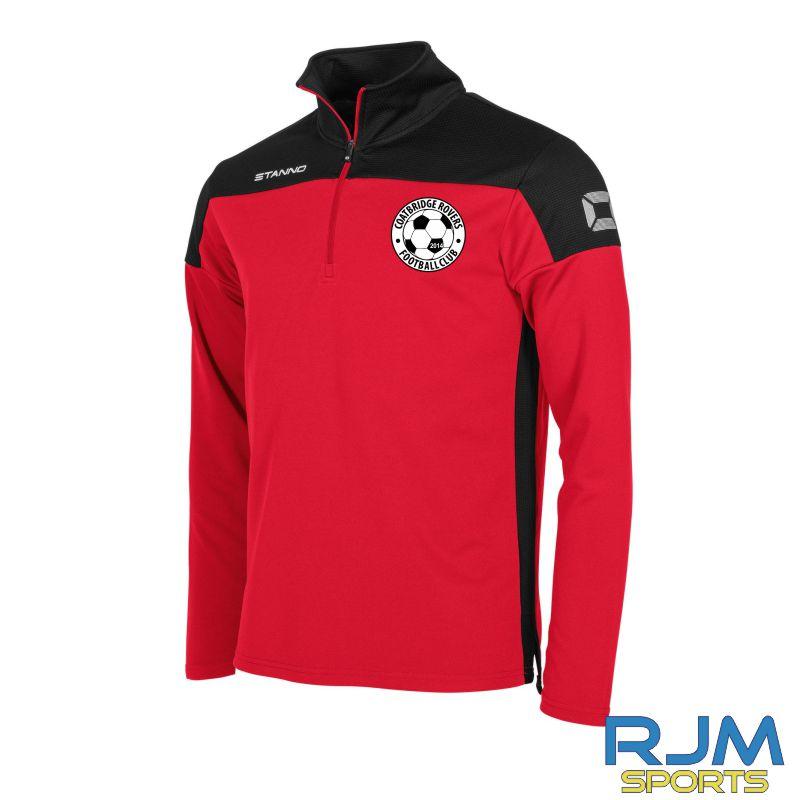 Coatbridge Rovers FC Stanno Pride Quarter Zip Top Red Black