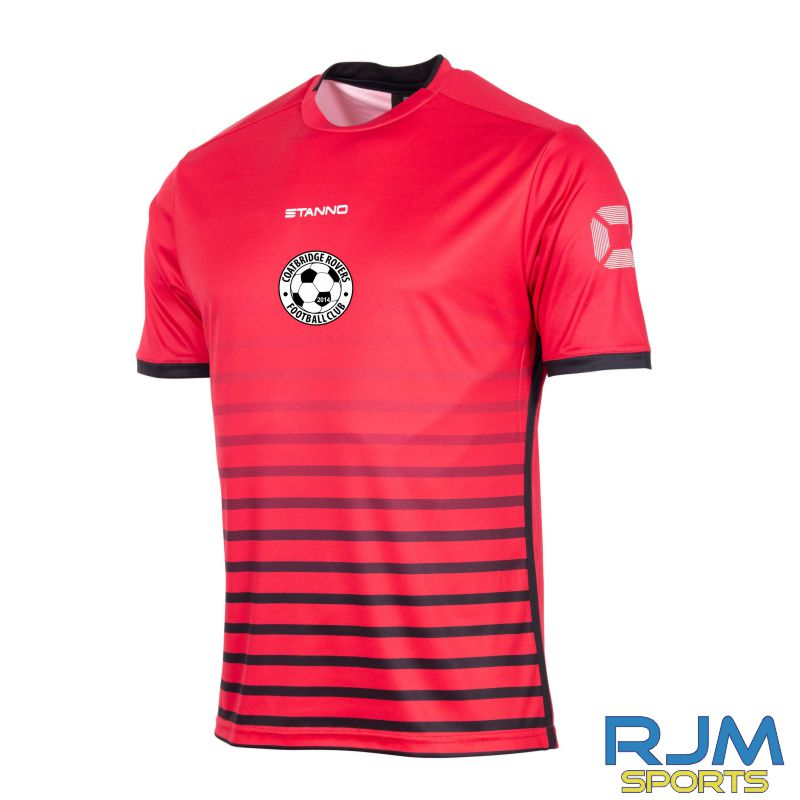 Coatbridge Rovers FC Stanno Fusion Home SS Shirt Red Black