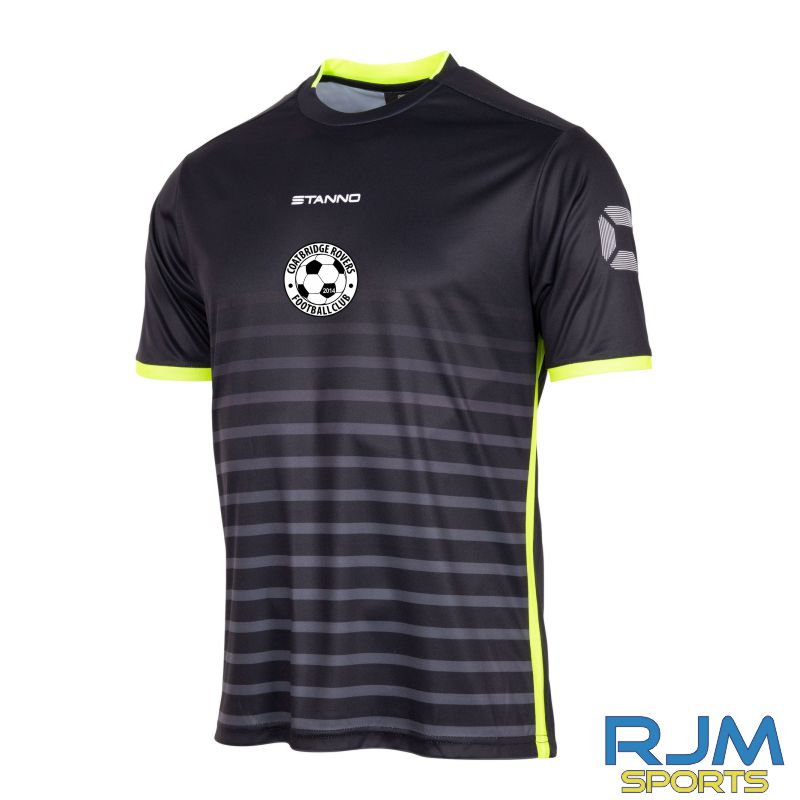 Coatbridge Rovers FC Stanno Fusion Away SS Shirt Black Neon Yellow