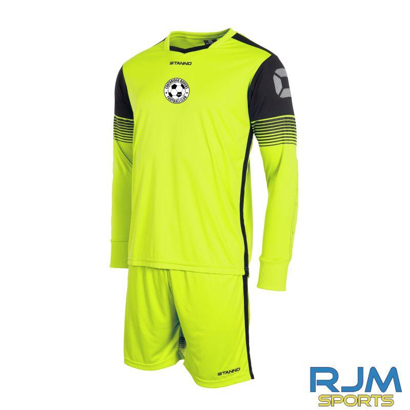 Coatbridge Rovers FC Stanno Nitro Home Goalkeeper Set Neon Yellow Black